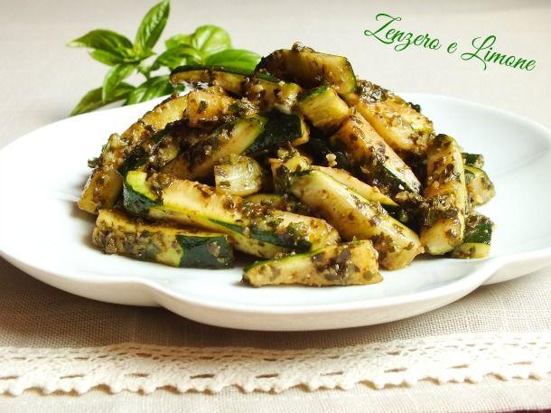 Zucchine al basilico