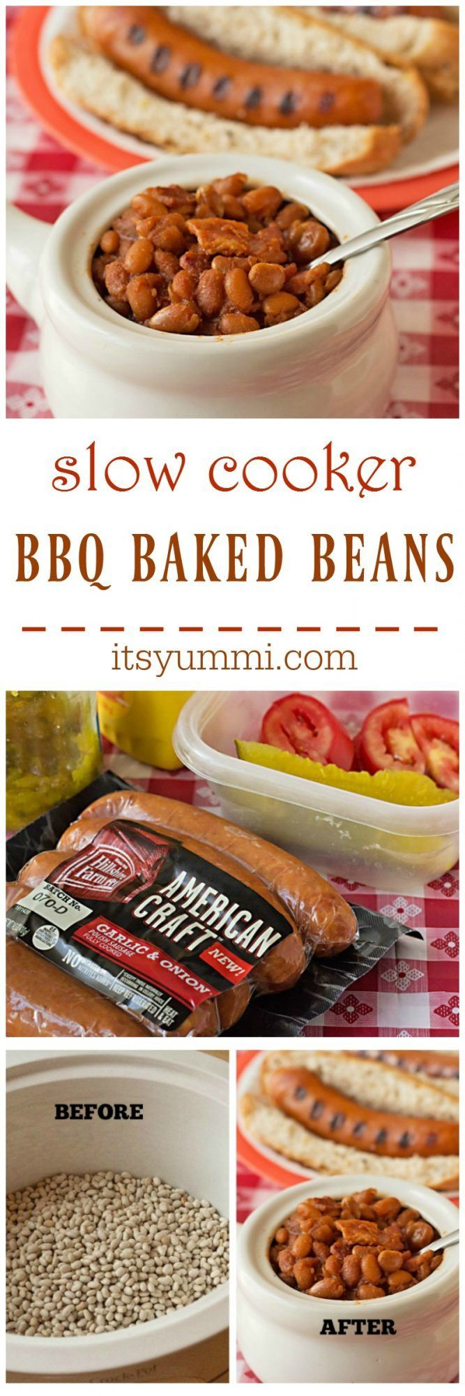 Slow Cooker BBQ Baked Beans Recipe ~ BBQ baked beans from scratch ...