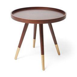 Soffbord Elmer, 47x46 cm, brun