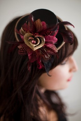 The Little Hattery - Burgundy and Gold
