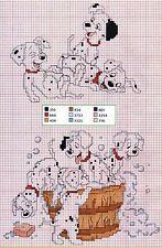 Disney 101 Dalmatians Colour Cross Stitch Chart x 2