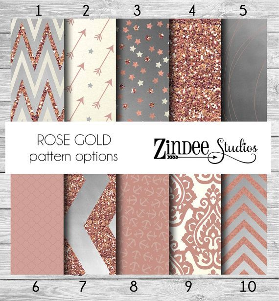 Rose Gold Pattern Vinyl HEAT TRANSFER or ADHESIVE Printed Vinyl Printed HTv permanent Arrow Chevron Polka Dot Anchor