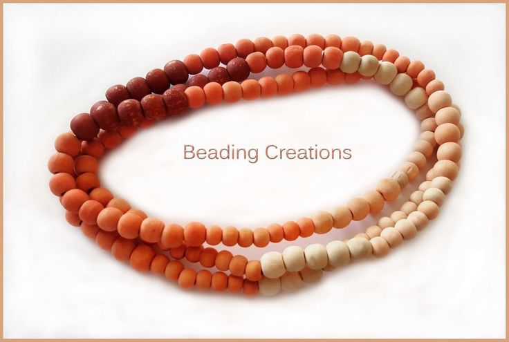Buy WOODEN BEADS - BEAD STRANDS - CUSTOM - MULTICOLOR - MIXED SIZES - +/- 1.2M STRANDS - MADE TO ORDER for R37.50