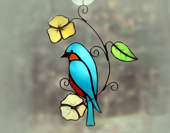Hey, I found this really awesome Etsy listing at https://www.etsy.com/listing/574291406/stained-glass-bluebird-suncatcher-glass