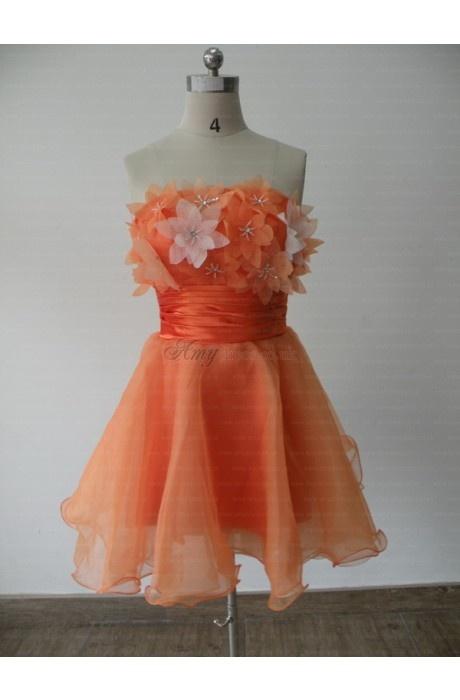 orange dress #orange #homecoming #cocktail #dresses