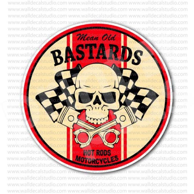 Mean Old Bastards Hot Rod Motorcycle Sticker