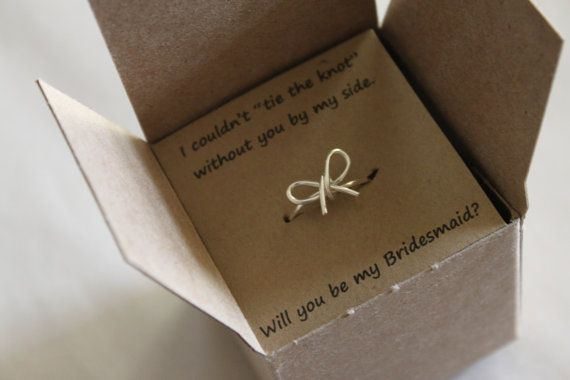 Set of 4 Tie the Knot Ring, Will You Be My Bridesmaid Gift, Maid of Honor, Wedding Favor, Bridal Shower on Etsy, $48.00