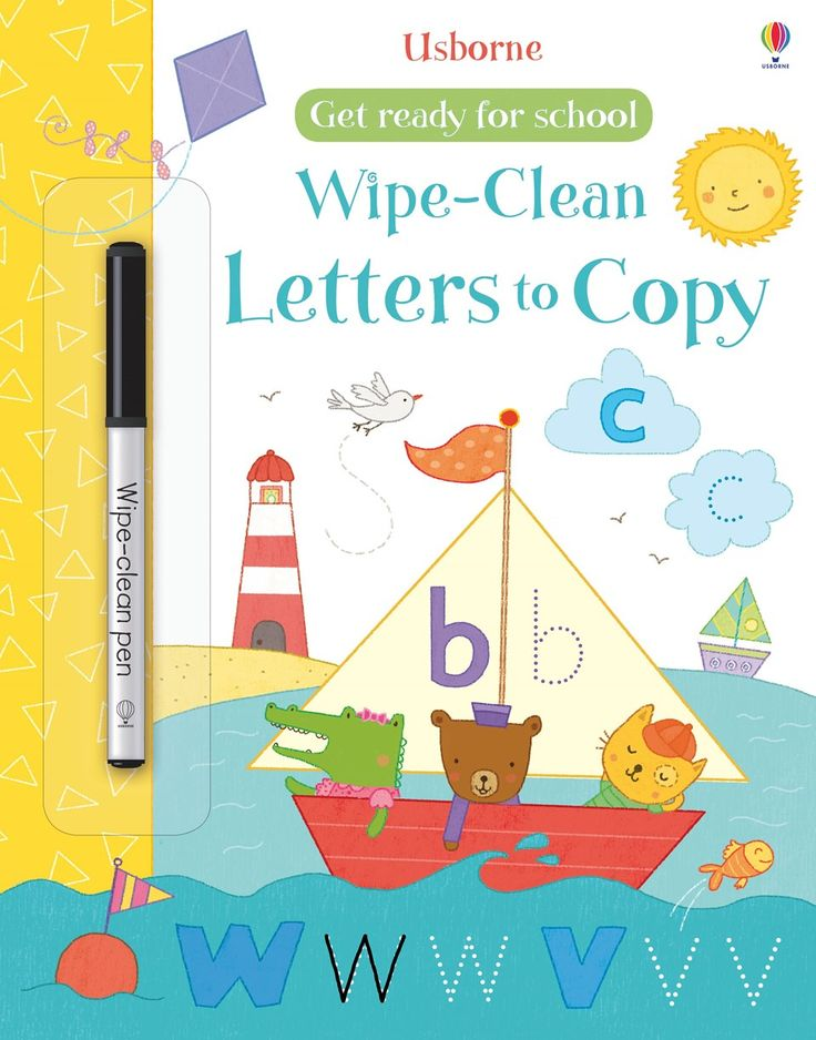 Wipe-clean letters to copy New for November