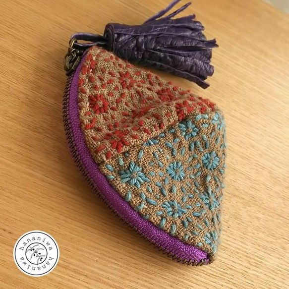 Japanese needle work shell pouch.  So sweet!