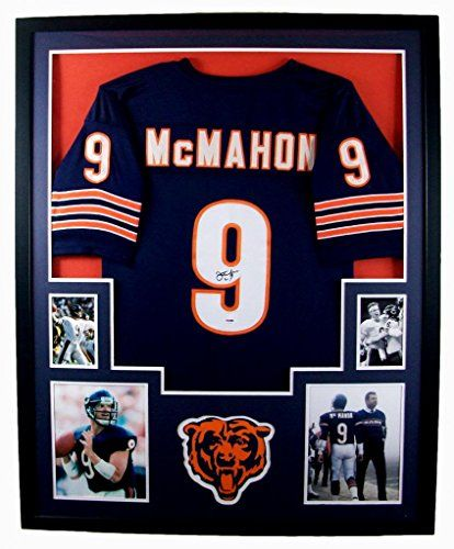 972727a4e64 Jim McMahon Framed Jersey Signed PSADNA COA Autographed Chicago Bears  Mister Mancave http ...