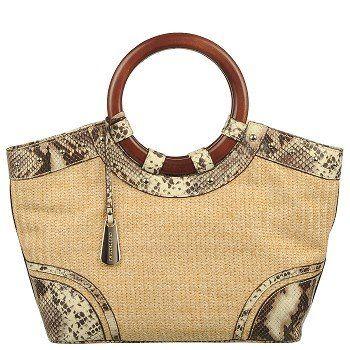 Feminine and chic, the Signal 1 straw handbag.