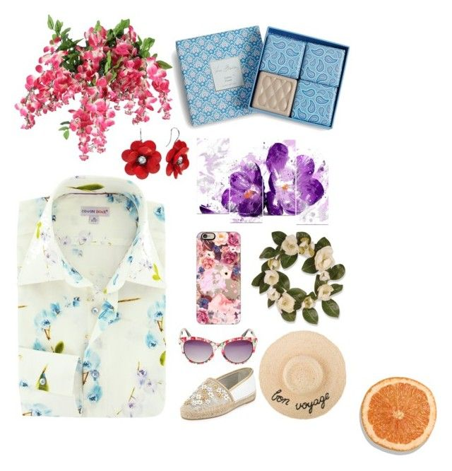 """Untitled #33"" by archita-dewi on Polyvore featuring National Tree Company, Vera Bradley, Casetify, Betsey Johnson and René Caovilla"