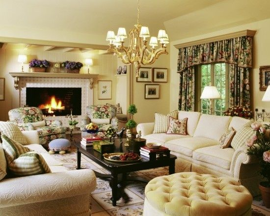 english cottage deco living rooms pinterest english