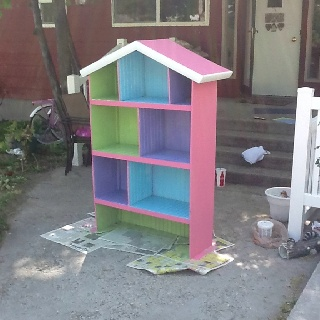 Finally done with kandices Barbie doll house!