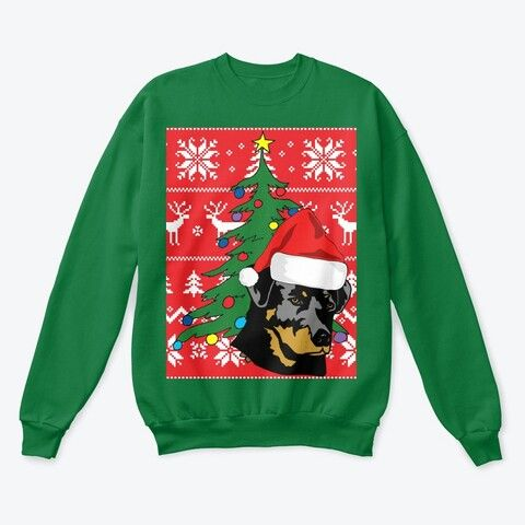 Rottweiler Dog Christmas from UGLY CHRISTMAS SWEATER SHOP This