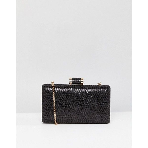 Oasis Occasion Box Clutch (2.325 RUB) ❤ liked on Polyvore featuring bags, handbags, clutches, black, box clutch, fancy handbags, clasp purse, hardcase clutch and oasis handbags
