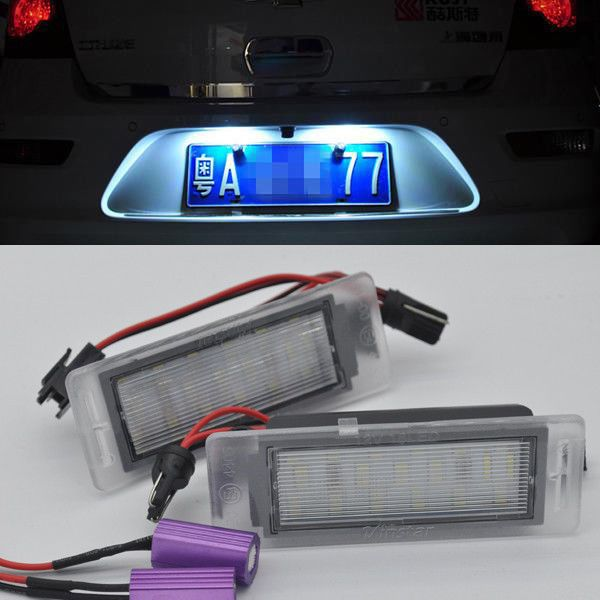 2x LED LICENSE PLATE LIGHT For Chevy Chevrolet Cruze 2009-2014 Camaro 2010-2013