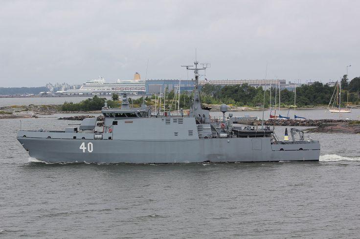 Finland: Katanpää class coastal mine hunter FNS Katanpää in Helsinki