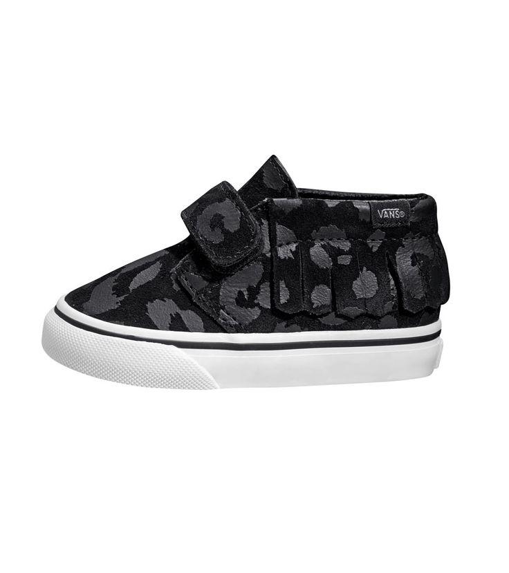Vans Chukka V Toddler Moc Leopard Suede Black, Kids Footwear, www.oishi-m.com