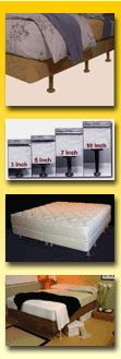 Order Universal Bedlegs Systems, Bed Legs, Bed Lifters, and Bed Risers at Sleep Solutions Center