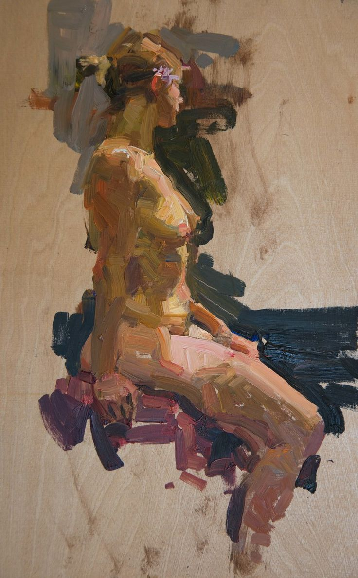 QUANG HO Figure, Study Oil on birch panel 16 x 10 inches