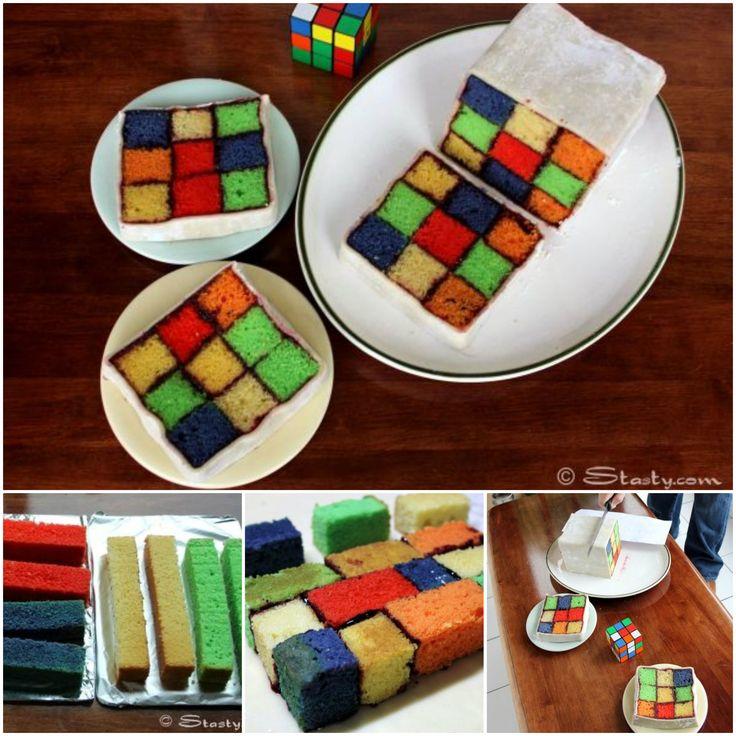 Rubik's Battenburg Cake!