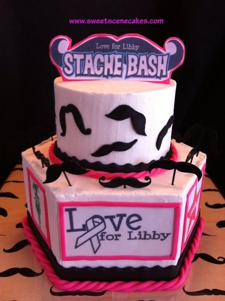 Mustache Cake Decorating