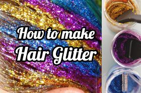 How to make hair glitter tutorial. No mess method to make your own DIY hair glitter at home, plus how to apply and what NOT to do! Sparkle and shine...