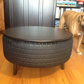 Repurposing my used truck tire into furniture was a great way to put a durable, used item to work for another lifetime.