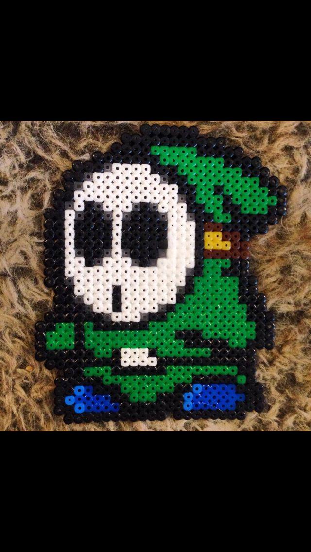 Hama bead of shy guy from yoshi Nintendo