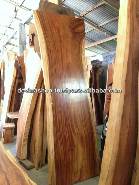 Acacia Wood Solid Slab Wood Dining Table 3 Meter Buy