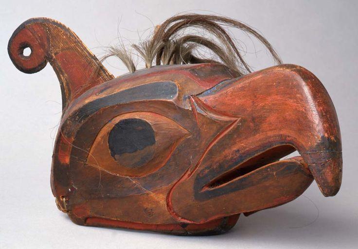 Unknown Kwakwaka'wakw artist (Kwakwaka'wakw): Thunderbird Mask, 1880/1890, wood, paint, and hair.