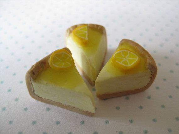 3 pieces of miniature lemon pie by tinyfoodies on Etsy, $8.00