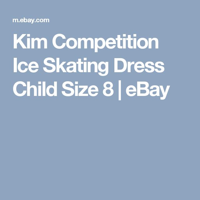 Kim Competition Ice Skating Dress Child Size 8  | eBay