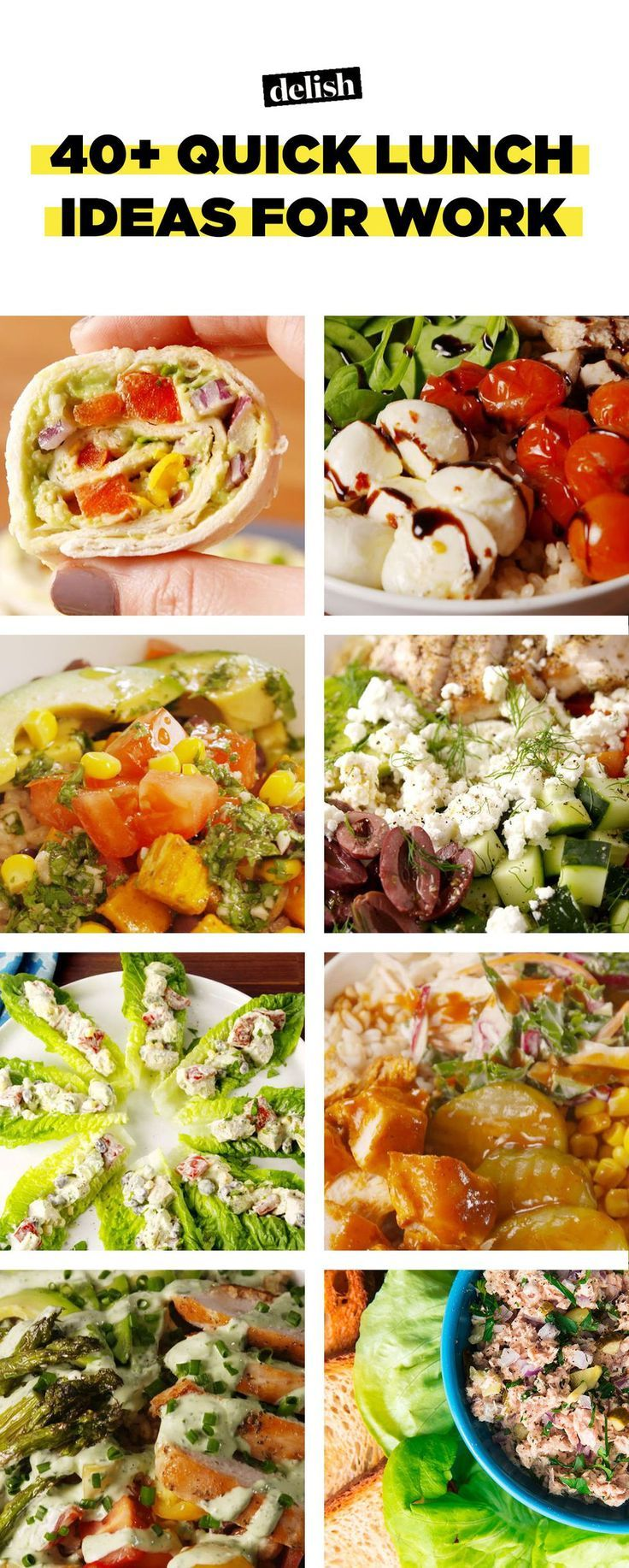 49 easy, not-sad desk lunches | meal prep | pinterest | lunch