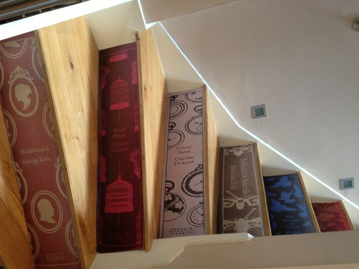 Book Spine Vinyl Stair Stickers Love Spitfire House