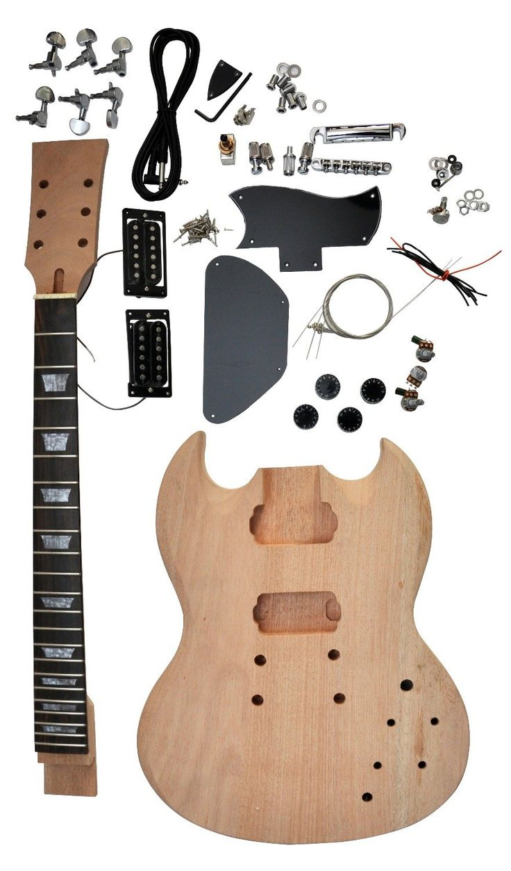 SG-400 electric guitar kit DIY guitar mahogany body free shipping