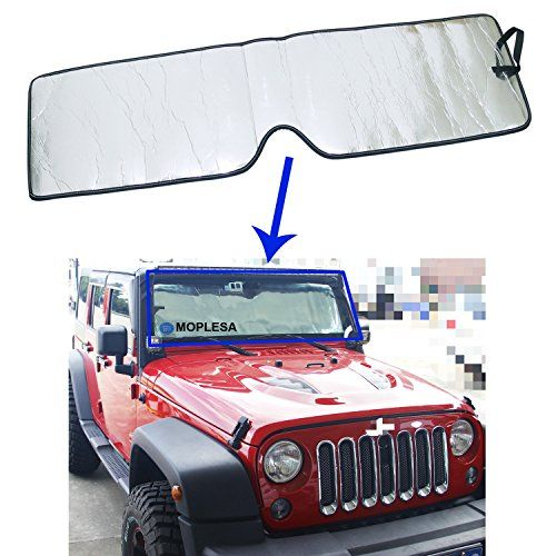Front Windshield Sunshade for Jeep Wrangler 2007-2016 Sun Visor Shading Mat - http://www.caraccessoriesonlinemarket.com/front-windshield-sunshade-for-jeep-wrangler-2007-2016-sun-visor-shading-mat/  #20072016, #Front, #Jeep, #Shading, #Sunshade, #Visor, #Windshield, #Wrangler #Jeep-Parts-Accessories