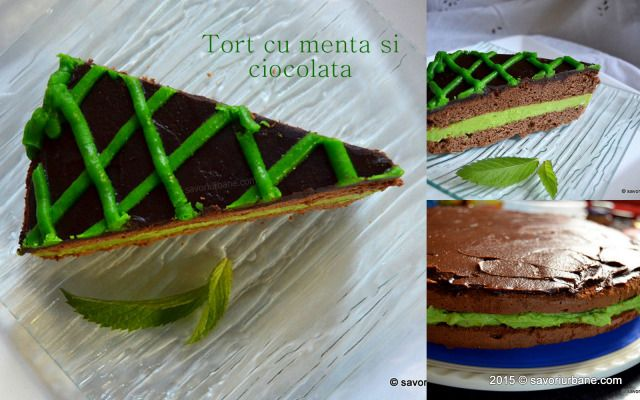 Tort After Eight Menta ciocolata Savori Urbane