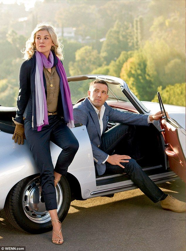 Ben Affleck & Rosamund Pike for Gone Girl ...     Picture perfect couple: The photogenic co-stars have already modeled for German clothing store Peek & Cloppenburg