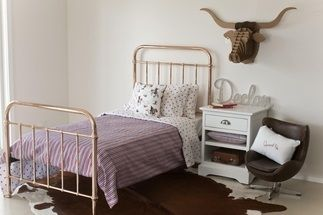 EDEN SINGLE BED - $799.00 - A classical and timeless single bed.  Eden comes in a gorgeous rose gold colour.  Expertly crafted of sturdy and strong metal with simple curves. #sweetcreations #shoptheblog #bed #bedroom #kids #furniture #incyinteriors