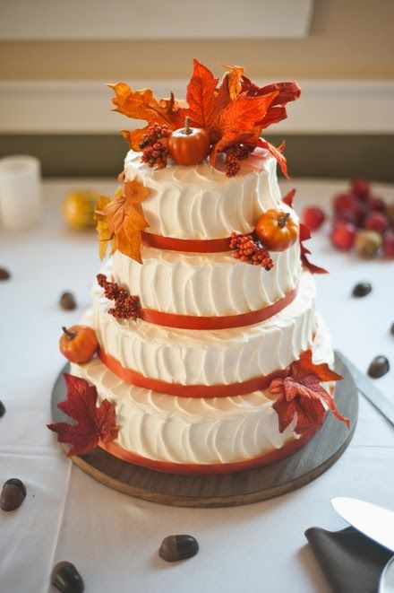 25 best ideas about fall wedding cakes on pinterest for Fall cake ideas