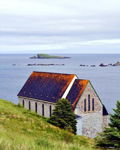 The Old Stone Church in the Town Of Ferryland, Newfoundland.