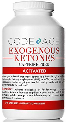 Codeage Exogenous Ketones Capsules – 240 Count – Keto Diet Supplement with BHB Salts as Exogenous Ketones, Electrolytes (Caffeine Free) | Keto Diet Suplement 8