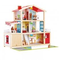 Hape - Doll Family Mansion Gender-neutral Wooden Doll House  This is just gorgeous - perfect for Miss 2's first doll house!  #EntropyWishList #PinToWin
