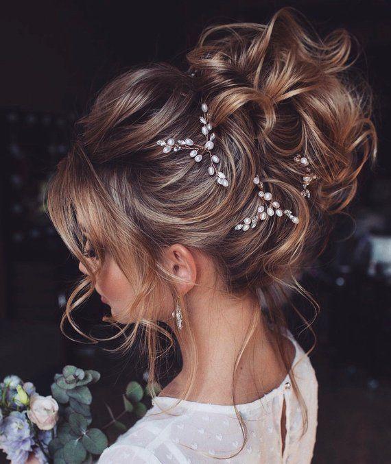 Horquillas para el cabello de novia-Horquillas para el cabello de boda-Horquillas para el cabello de perlas-Horquillas para el cabello de cristal- Horquillas para el cabello nupcial – horquillas para el cabello de perlas-Horquillas para el cabello de oro