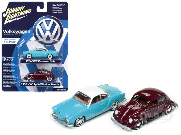Fabulous diecastmodelswholesale Volkswagen Split Window Beetle and Karmann Ghia Cars Set Diecast Model Cars by Johnny Lightning