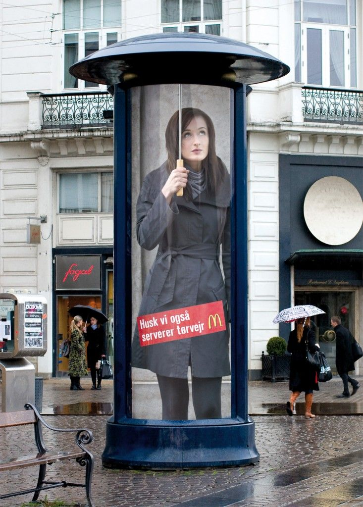 #Affiche #original en ville : Mc #Donald - #Street #marketing
