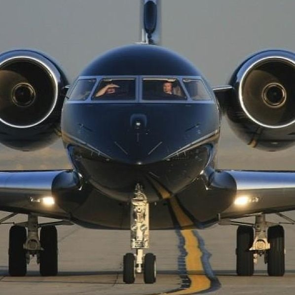 Blacked out Private Jet