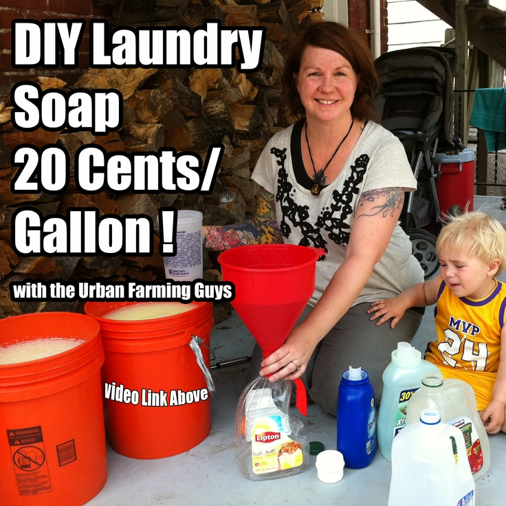 DIY Laundry Soap 20 cents a gallon! Pin it, Watch it , Share it! https://www.youtube.com/watch?v=qHPwTcjFCpw